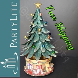 EUC! PartyLite Glowing Tree Tea Light Holder